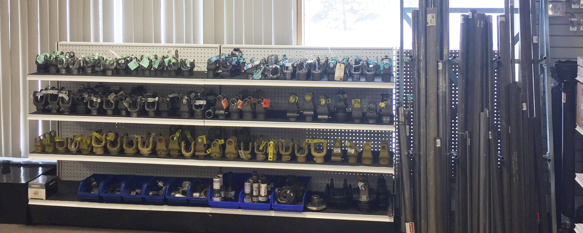 Shelves of bearing supplies